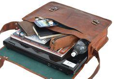 """Lässig, cool, """"John 17""""""""! Die Umhängetasche aus Ziegenleder überzeugt im sportlich-praktischen Design und ist ein zuverlässiger Begleiter für Arbeit, Uni oder Freizeit - Lederumhängetasche - Collegetasche - Gusti Leder - U28"""