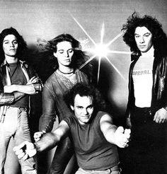 Van Halen ❤️  1978 Eddie and Alex Van Halen  David Lee Roth and Michael Anthony
