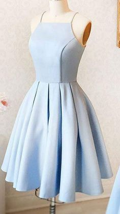 A-Line Halter Light Blue Short Homecoming Dress,Cute Prom Dress from lovingdress - Madie U. A-Line Halter Light Blue Short Homecoming Dress,Cute Prom Dress from lovingdress - Cute Prom Dresses, Dance Dresses, Pretty Dresses, Beautiful Dresses, Elegant Dresses, Dresses Dresses, Summer Dresses, Dress Prom, Light Blue Homecoming Dresses