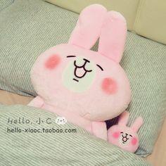 日本kanahei卡娜赫拉的小动物毛绒玩具公仔粉兔子小鸡超大号玩偶-淘宝网