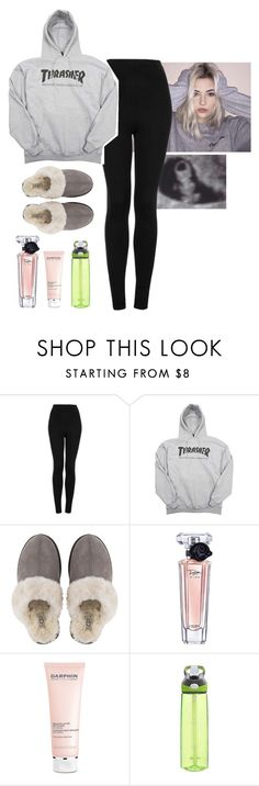 """""""PRP"""" by clxudynxw ❤ liked on Polyvore featuring beauty, Topshop, UGG, Lancôme, Darphin and Contigo"""