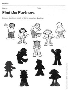 These three worksheets give children the opportunity to analyze shapes by matching the shadows. Bundle includes: Find the Partners, Flipped Part. Printable Preschool Worksheets, Free Printable Puzzles, Science Worksheets, Worksheets For Kids, Emotions Preschool, Preschool Learning Activities, Preschool Lessons, Kids Learning, Shape Poems For Kids