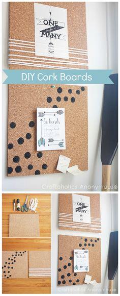 Cute cork board decor ideas! Love the polka dots.