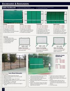Tennis Backboards & Rebounders - 34832A - Realistic Deluxe Tennis Backboard 8' x 12' - Mansion Athletics