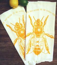 e6b09eb6d Eat HONEY - Multi-Purpose Flour Sack Bar Towel - Set of 2 - Renewable  Natural Cotton