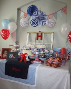 red, white and TWO! {birthday party}