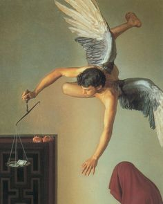 Claudio Bravo- San Antonio Temptations (detail of angel)