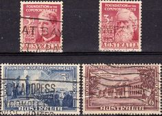 Australia 1951 Commonwealth Set Fine Used SG 241 4 Scott 240 3 Other Commonwealth stamps here
