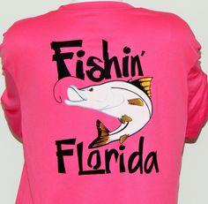UPF 50, Dri Fit Long Sleeve Performance Shirt: Fishin' Florida Snook