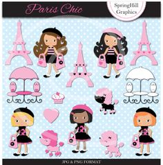 Instant Download Paris Chic Shopping Digital by SpringHillGraphics, $5.00