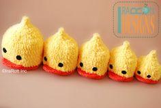 Get your ducks in a row ! Quacky Easter Ducky Beanie Hat Crochet Pattern PDF by Irarott www.irarott.com