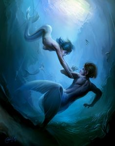 People of the Lake by Cynthia Sheppard. Love mermaids!!!