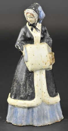 WOMAN WITH FUR MUFF DOORSTOP Cast iron, long dressed woman in black looking to side, Albany Foundry, white and blue coat with fur muff and purse, beautiful full figured doorstop. Antique Iron, Vintage Iron, Wings Etc, Open Door Policy, Red Rooster, Door Stopper, Iron Doors, Blue Coats, Door Knockers