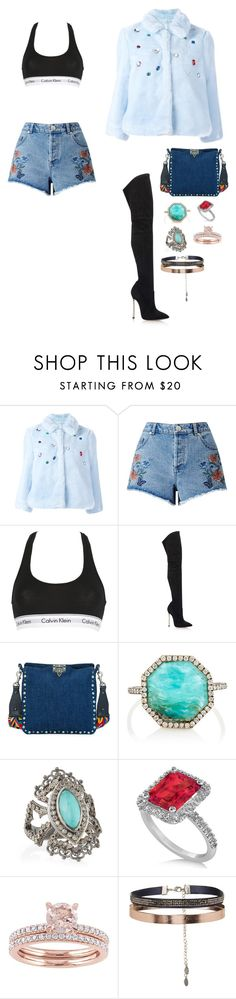 """""""They fear they'd loose so much"""" by yasmedixoxo ❤ liked on Polyvore featuring VIVETTA, Miss Selfridge, Calvin Klein Underwear, Casadei, Valentino, Monique Péan, Armenta, Allurez and Accessorize"""