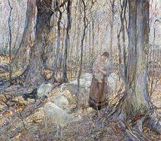 Landscape with Figures |John Edward Costigan (United States, Rhode Island, Providence, 1888-1972) United States, 1923