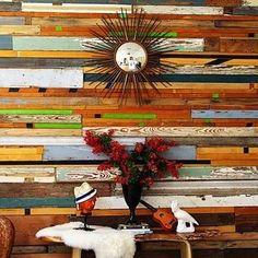 Salvaged Wood Turned DIY Wall