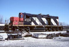CN GP9M 4106 at Garrett, Indiana 22 March, 2004.