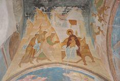 Adoration of the Magi. Dionysius. Музей фресок Дионисия - Разрез по южному продольному нефу. Вид на север - «Видеша отроцы халдейстии...» (Акафист. Икос 5)