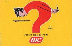 Vintage Advertising Poster |  Bic pens