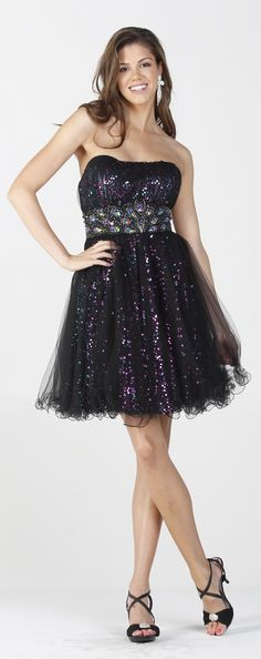 Short Homecoming dress in color Black & more - Strapless style in Mesh - Plus Size available. - $112 - Dress URL: http://www.jessicasfashion.com/Short-strapless-sequins-mesh-prom-and-party-dress-PY6672.html #dress #dressshopping  #fashion  #meshdress #shortdress #shortdresses #straplessdress #straplessdresses #plussizedress