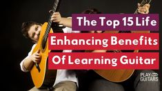 The benefits of learning guitar can be a life-changing experience. The discipline and creativity involved in learning to play guitar are key skills to develop in your life in general. Learn more about how playing the guitar can improve your mind, body, and soul here. Play Guitar Chords, Learn Acoustic Guitar, Learn To Play Guitar, Guitar Pins, Guitar Solo, Learning Guitar, Playing Guitar, Indie Music, Folk Music