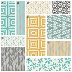 Custom Crib bedding - Yellow, Grey and Teal Baby Bedding on Etsy, $340.00