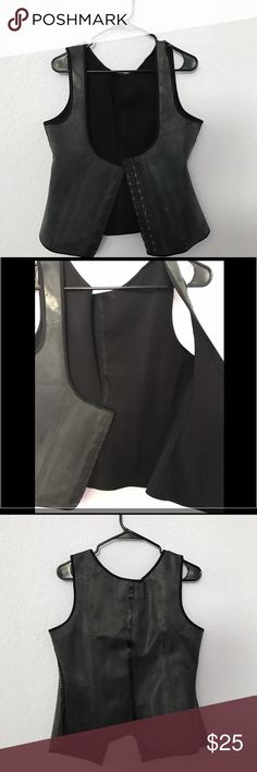 NEVER USED PLUS SIZE WAIST TRAINER BOUGHT the biggest size which said 5x but still was to small for my 3x size . Has never touched bare skin only tried on over clothes. This may fit a person who is a 2x paid 65 your gain my loss Intimates & Sleepwear Shapewear