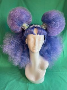 Kawaii Hairstyles, Pretty Hairstyles, Wig Hairstyles, Character Inspiration, Hair Inspiration, Drag Wigs, Diy Wig, Purple Wig, Arte Obscura
