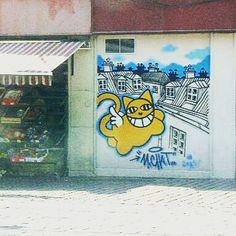Se promener dans Strasbourg et tomber sur @terrain_minet_mrchat !  Je peux mourir!!!  #mrchat #streetart #Strasbourg #chat #chatailé #surprise #bonheur #happy #art #artderue #loveart #cat #exceptionnel #chance #instaart #instaartist @strasbourgtourisme @lolo_amazing_mum