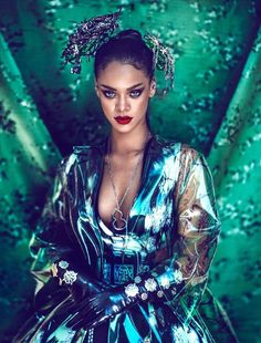 The Rihanna Harper's Bazaar China Cover Story is Culturally Styled #fashion trendhunter.com