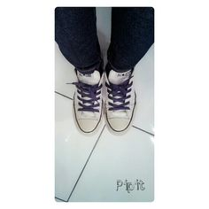 All star with a purple strap