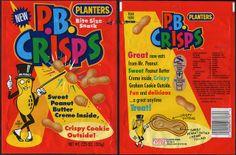 Planters - P.B. Crisps - NEW - snack package bag - 1992 by JasonLiebig, via Flickr
