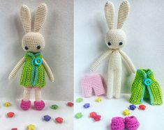 Crochet Milk Bunny Doll With a Set of Clothes Amigurumi Toy Lovely Cute Rabbit Stuffed Plush Handmade Toy Baby Shower Gift for baby girl  #bunnyamigurumi #bunnytoy #bunnycrochet #crochetdoll #Amigurumi #handmadetoys #clothesfordolls #dollclothes #angiebunny #cutegiftforgirl #crochetobjet