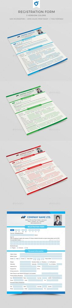 Registration Form V-02 Photoshop and Printers - customer registration form template