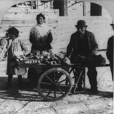 Bread vendors in Naples, Italy 1904