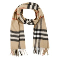 Burberry Scarves & Caps, Giant Icon Cashmere Scarf Camel Check ($445) ❤ liked on Polyvore featuring accessories, scarves, cognac, cashmere scarves, burberry, burberry shawl, burberry scarves and cashmere shawl