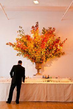 Orange Wedding Inspiration | Fall Inspired Floral Arrangement