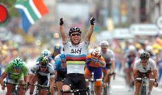Marc Cavendish wint op Champs Elysees. Is hij erbij als op 7 augustus de Rabobank Gouden Pijl wordt verreden in Emmen? Met zijn ploegmaten Bradley Higgins en Christopher Froome?