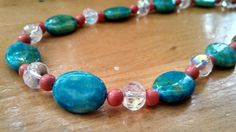 Brightly Colored Beaded Necklace $20 on Etsy