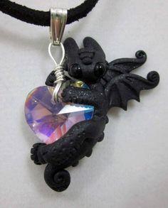 I've got a big heart necklace light  pink heart by TheWhiteMandara, $18.00