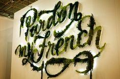 Moss typography....