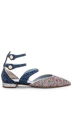 Chiara Ferragni Pointy Ankle Sandal in Multi & Blue | REVOLVE