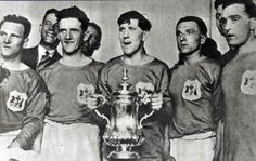 Upset: Fred Keenor holds thetrophy with his Cardiff City team-mates after their famous win over the mighty Arsenal in 1927 Cardiff City Football, Cardiff City Fc, Welsh Football, Football Team, Bristol Rovers, Fa Cup Final, Sport Icon, Wembley Stadium, Champions League