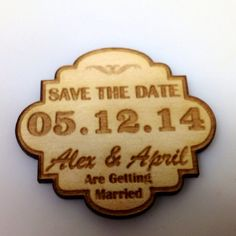 Personalized Save the Date laser cut wood by customcoinrings