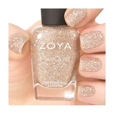 Bar by Zoya can be best described as a glittery nude topaz in the best-selling ultra textured, matte, holographic Magical Pixie formul.