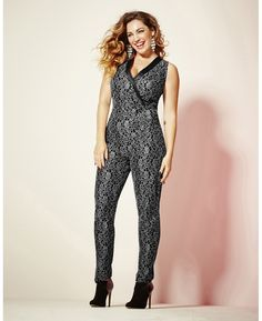 """""""Kelly Brook"""" Kelly Brook Lace Jumpsuit at Simply Be"""