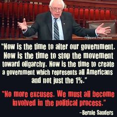 Senator Bernie Sanders Gets It::DO YOU?
