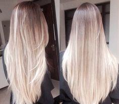 Ombre, long hair.