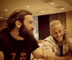 Clive Standen & Travis Fimmel... And so Clive looks likes this in real life, too... And so does Travis.... Um yum!