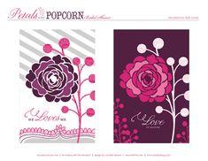 "free printables by HWTM - ""Petals and Popcorn"" Bridal Shower"